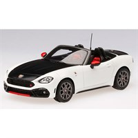 TrueScale Miniatures Abarth 124 Spider - White 1:43