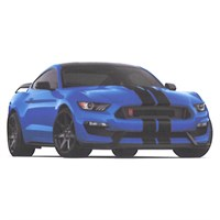 Ford Mustang Shelby GT350R - Blue 1:43