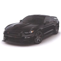 Ford Mustang Shelby GT350R - Black 1:43