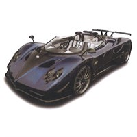 TrueScale Miniatures Pagani Zonda HP Barchetta - Dark Blue/Black 1:43