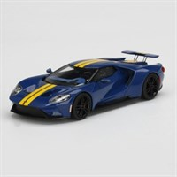 TrueScale Miniatures Ford GT - Sunoco Blue W. Yellow Stripe 1:43