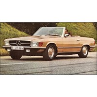 12 Art Mercedes 350SL R107 - Gold Metallic 1:12