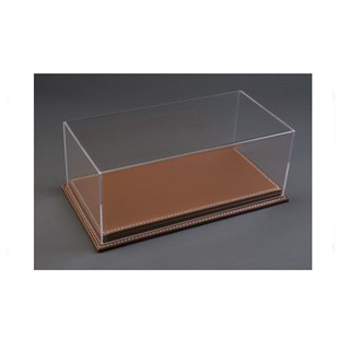 Atlantic Brown Leather Base Display Case 1:24