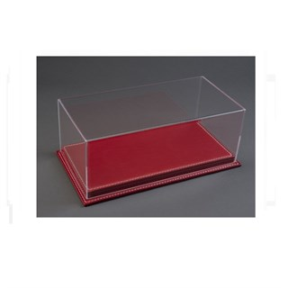 Atlantic Red Leather Base Display Case 1:12