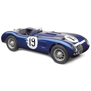 CMC Jaguar C-Type - 1st 1954 Goodwood BARC Sports Car Race #19 J. Stewart 1:18