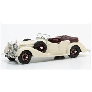 Matrix Alvis 4.3 Litre Cross & Ellis Tourer 1938 - White/Maroon 1:43