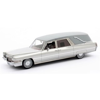 Matrix Cadillac Superior Funeral Car 1970 - Silver 1:43