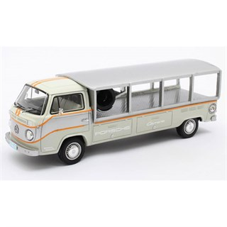 Matrix Volkswagen T2 Porsche Race Transporter 1976 - White/Grey 1:43