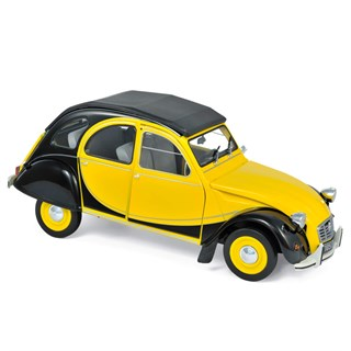 Norev Citroen 2CV Charleston 1982 - Helios Yellow/Black 1:18