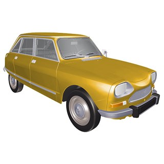 Norev Citroen Ami 8 Club 1969 - Bouton d'Or Yellow 1:18