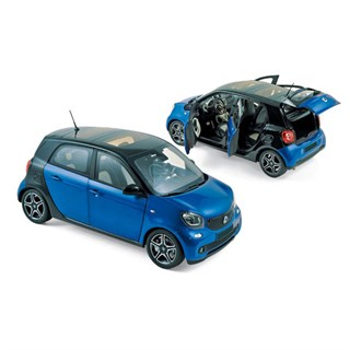 Norev Smart Forfour 2015 - Black/Blue 1:18