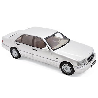 Norev Mercedes S320 1997 - White Metallic 1:18