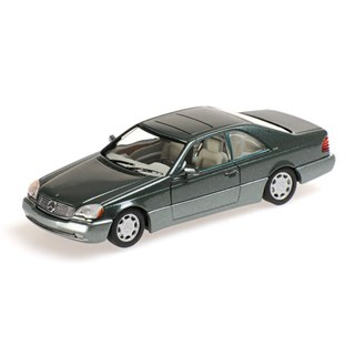 Mercedes 600 SEC Coupe 1992 Green Metallic 1:43