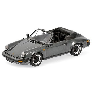 Minichamps Porsche 911 Carrera Cabriolet 1983 - Grey Metallic 1:18
