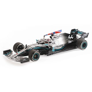 Minichamps Mercedes F1 W10 - 1st 2019 British Grand Prix - #44 L. Hamilton 1:18