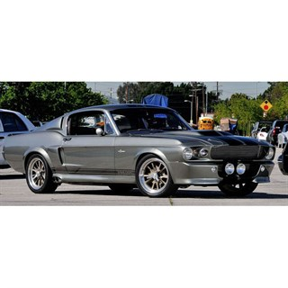 Spark Ford Mustang 500 Eleanor - Silver/Black 1:43