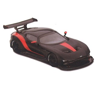 TrueScale Miniatures Aston Martin Vulcan - Matt Black/Red 1:43