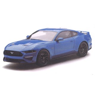 TrueScale Miniatures Ford Mustang 2018 - Lightning Blue 1:43