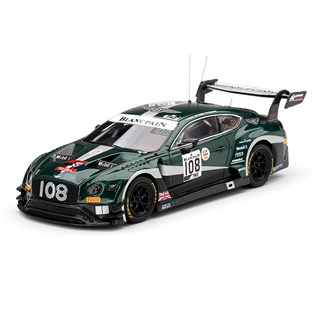 TrueScale Miniatures Bentley Continental GT3 - 2019 Spa 24 Hours - #108 1:43