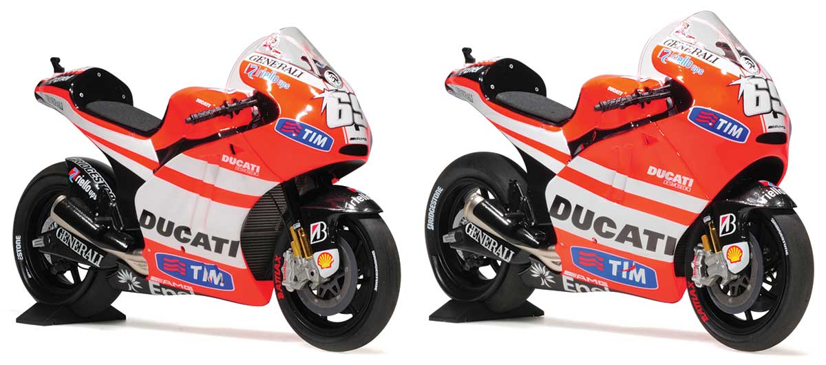 1:12 Ducati Desmosedici GP11.1 and GP11.2