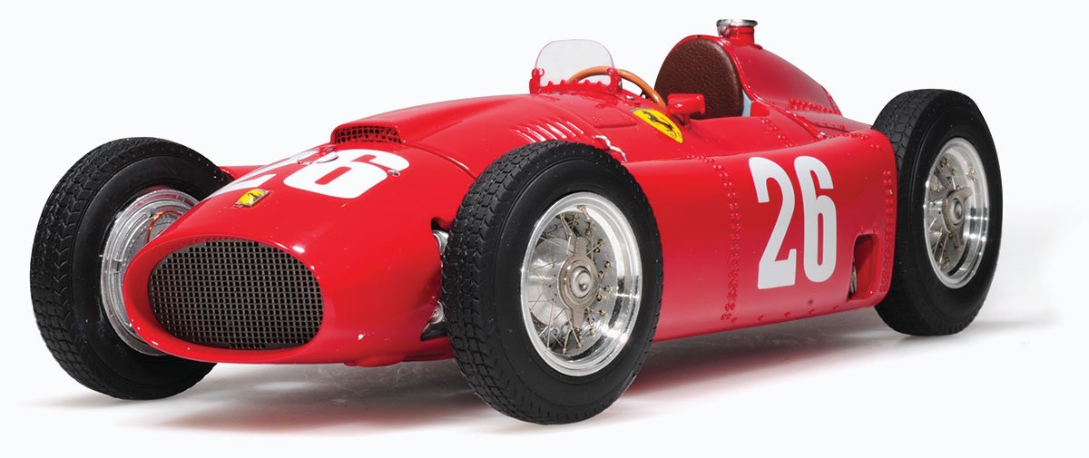 Fangio and Collins 1956 Ferrari D50 Italy model from CMC