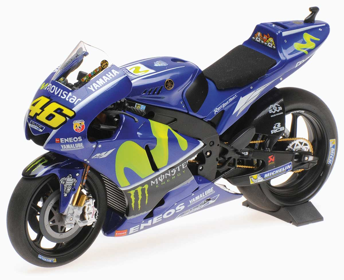 Minichamps 1:12 Valentino Rossi 2017 Yamaha YZR-M1 Diecast Model Bike Review