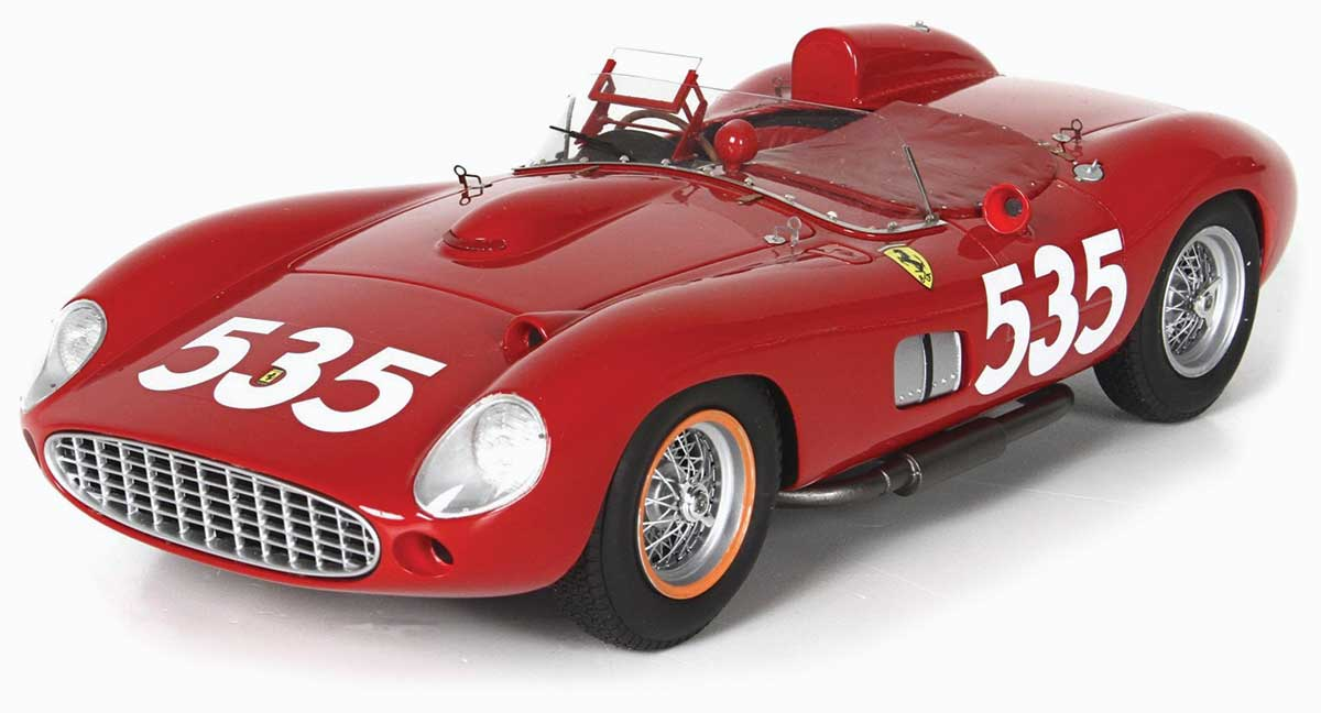 1:18 Taruffi 1957 Ferrari 315 S. Mille Miglia model from BBR