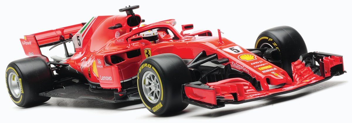 Vettel 2018 Ferrari SF71H model from Burago